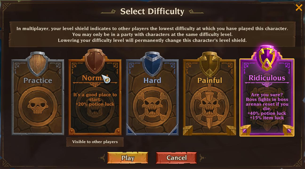 Paramètres de difficulté de Torchlight 3