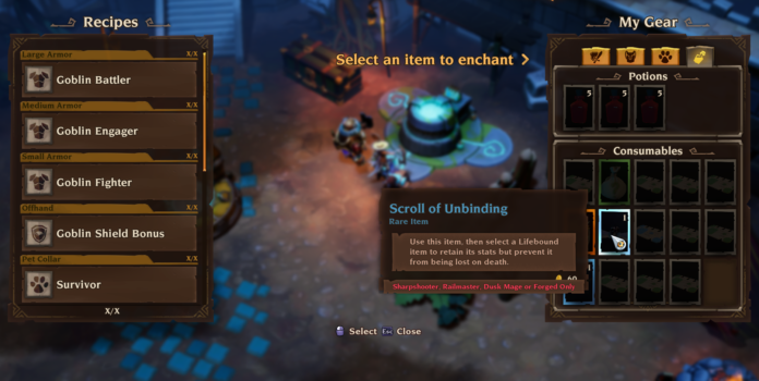 What are Lifebound Items in Torchlight 3?