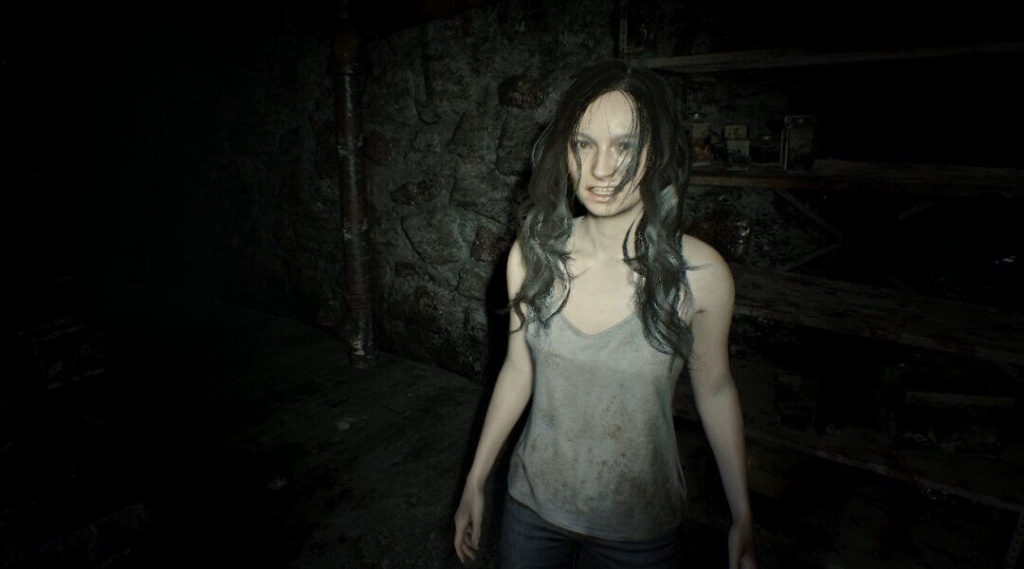 Resident Evil 8 personnages jouables Mia Winters Ethan