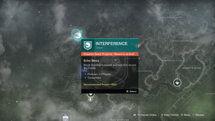 Means to an End Quest Bug in Destiny 2