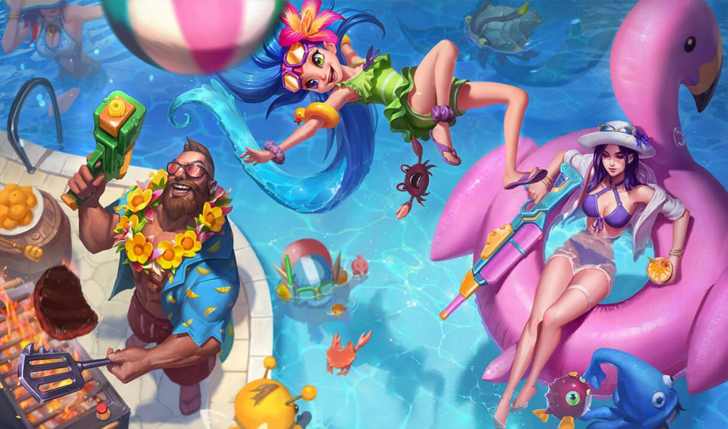 League of Legends Pool Party Skinline Collection 2020