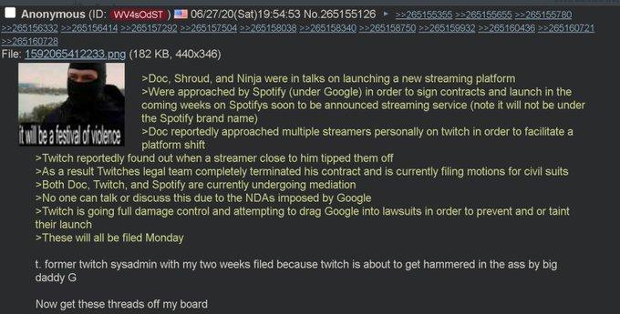 Plateforme de streaming Google Brime Spotify Twitch