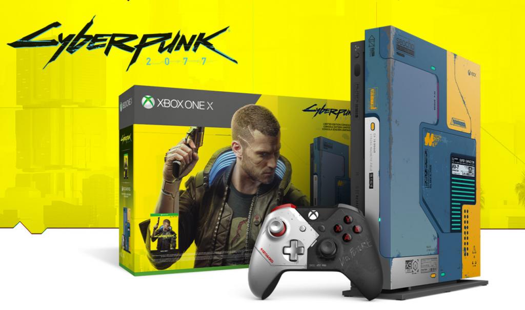 Bundle Xbox One X Cyberpunk 2077 édition limitée numérique directe