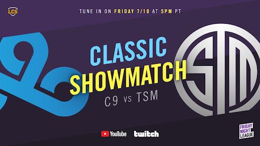 Le showmatch classique de LoL opposera les formations TSM et Cloud9 classiques