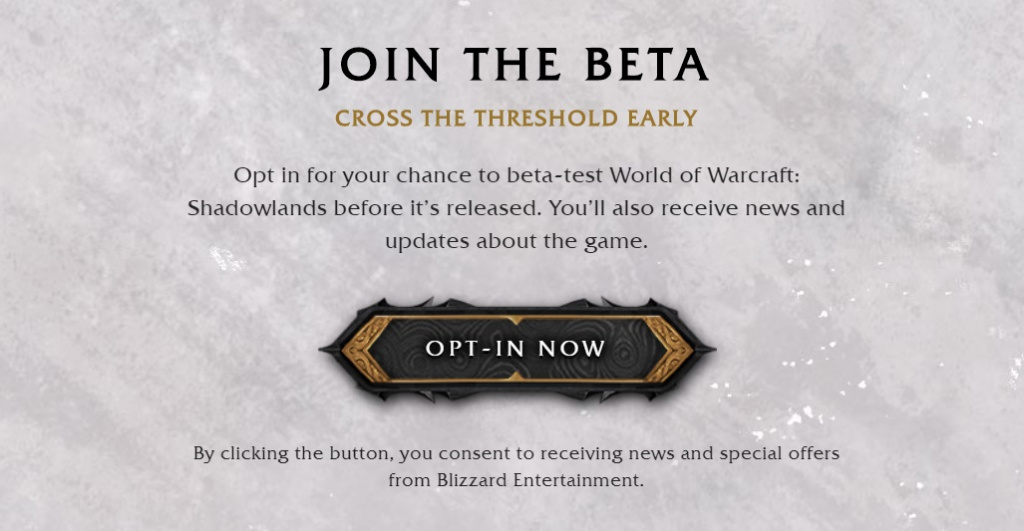 comment rejoindre shadowlands beta