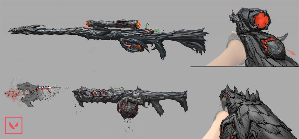 Art conceptuel de la collection de peaux de dragon Collection de peaux Elderflame