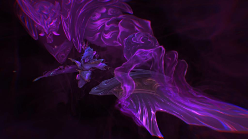 Art éclaboussant de fleur d'esprit de Yasuo