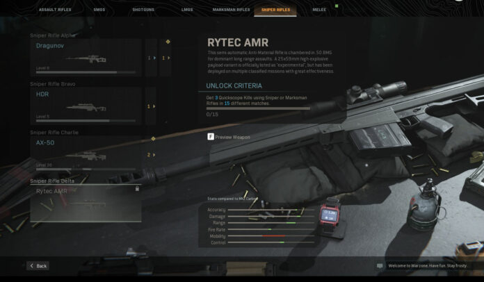 How to unlock the Rytec AMR in Call of Duty Modern Warfare