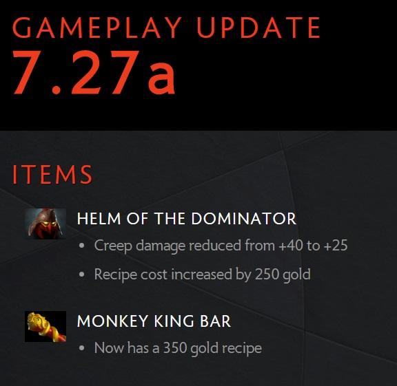 Dota 2 Gameplay Update 7.27a Valve