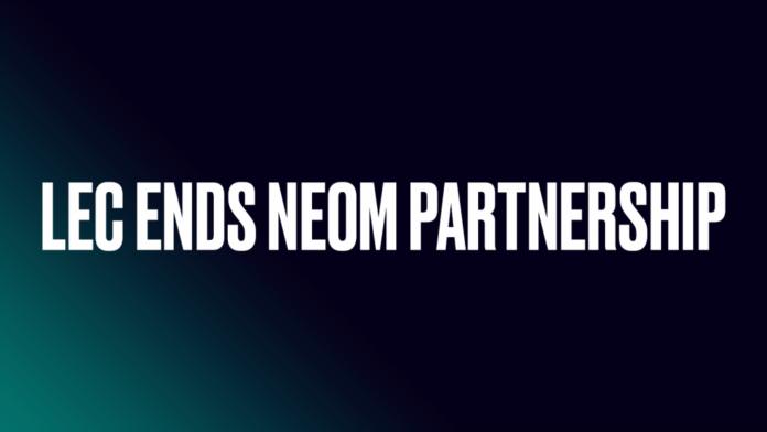 LEC annonce la fin du partenariat avec NEOM après un contrecoup