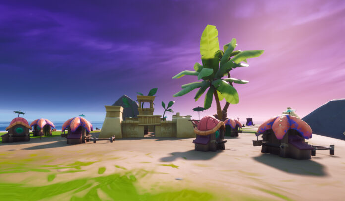 Sculpted Coral Kingdom Border Monuments Locations in Fortnite