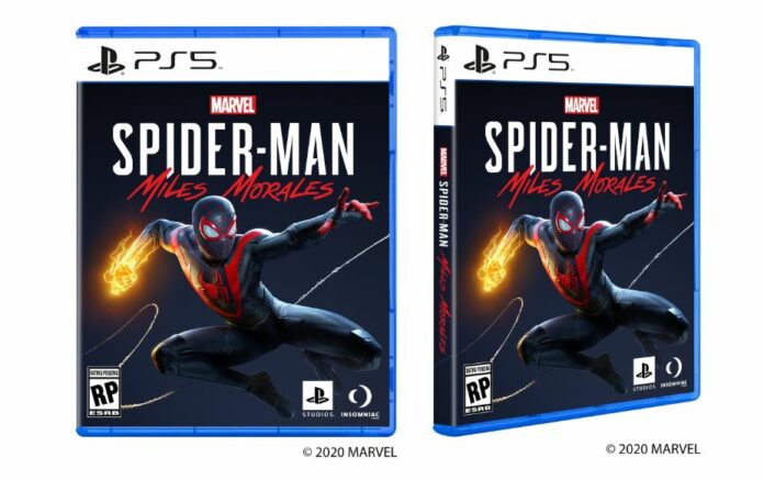 PS5 game boxes Spiderman Miles Morales