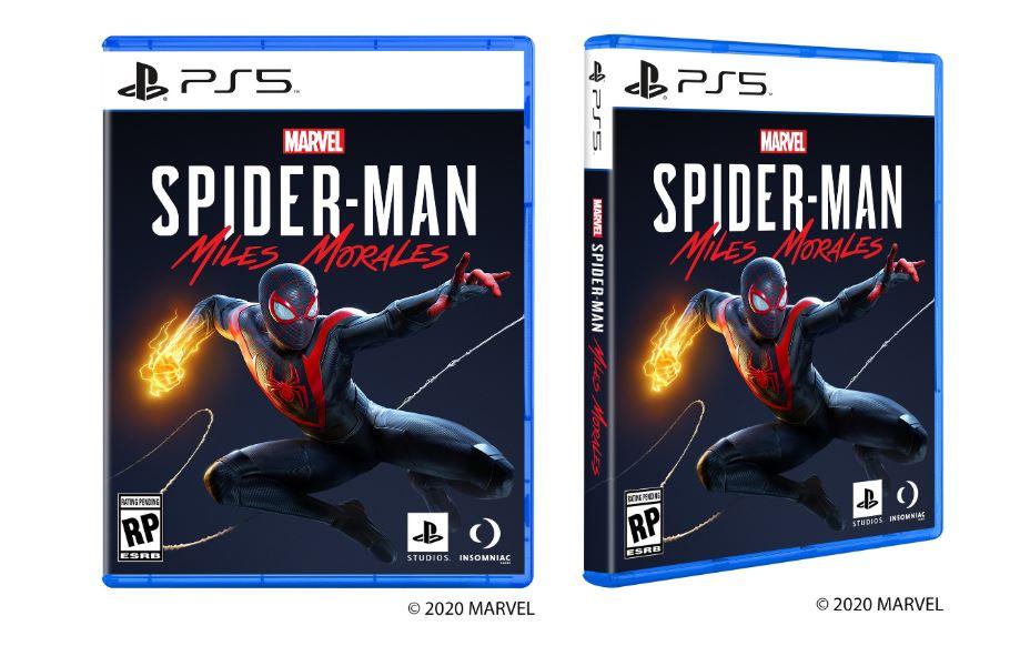 Boîtes de jeux PS5 Spiderman Miles Morales
