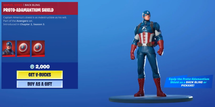 Fortnite Captain America Skin Comment obtenir