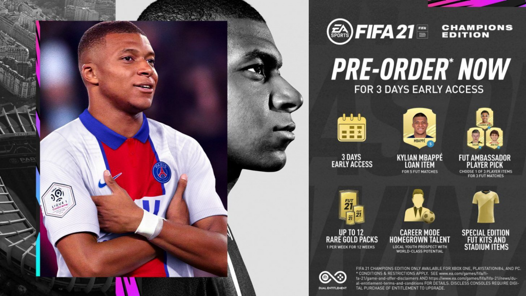 Prix de la précommande FIFA 21 Détails Standard Champions Ultimate Edition