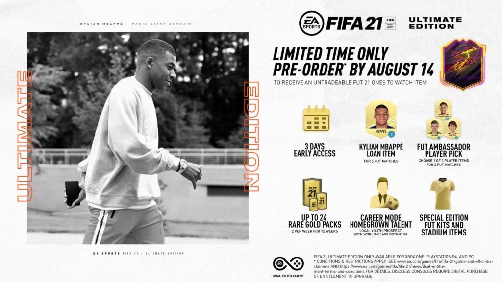 FIFA 21 Price Pre-Order Ultimate Edition