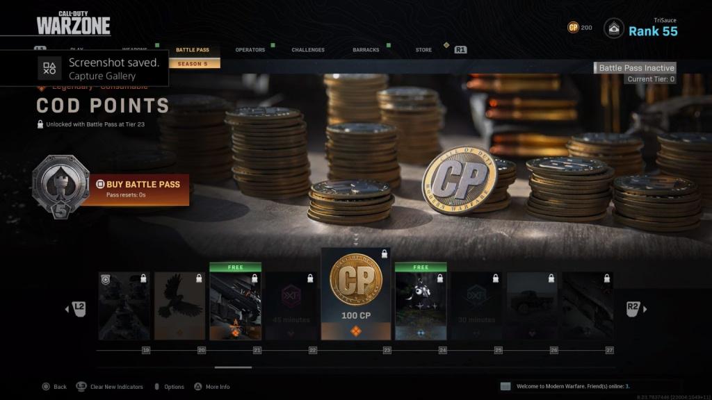 Warzone Battle Pass saison 5 tous skins