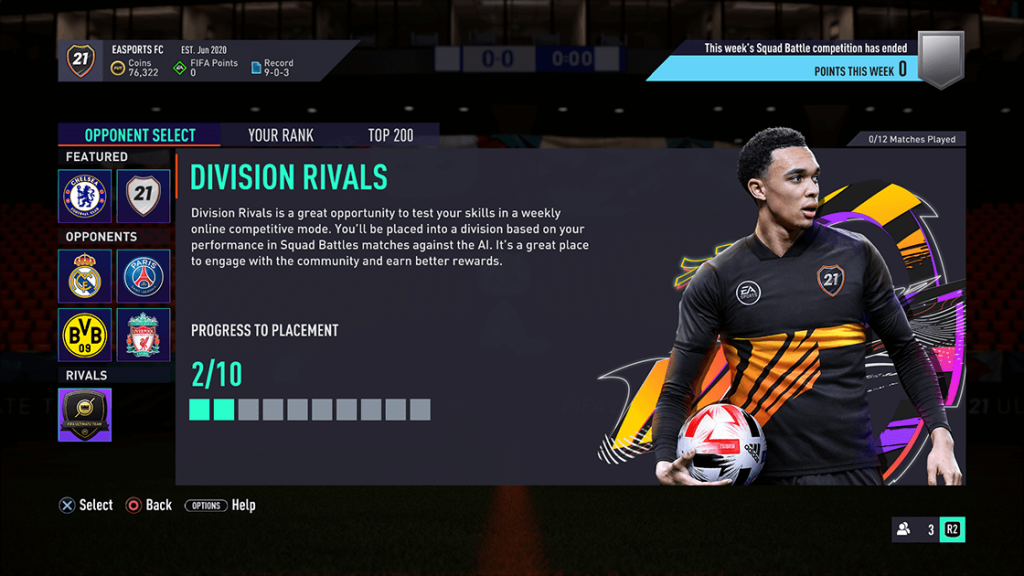 FIFA 21 FUT Division Rivals and Squad Battle Changements
