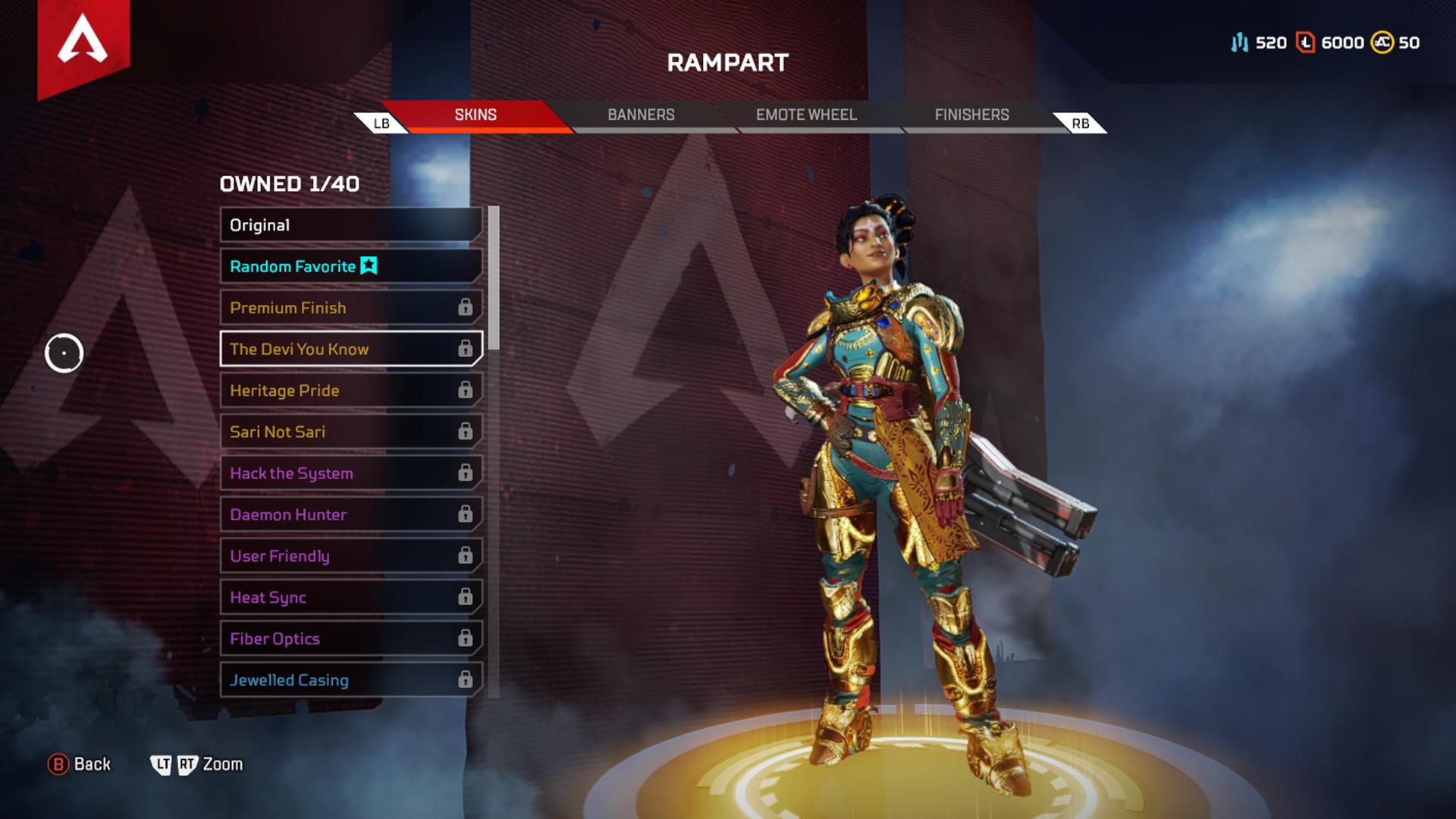 apex legends rempart skins légendaires