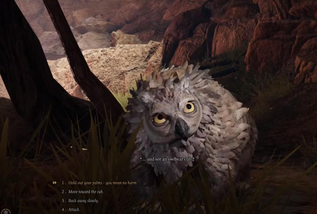 Baldurs Gate 3 Owlbear