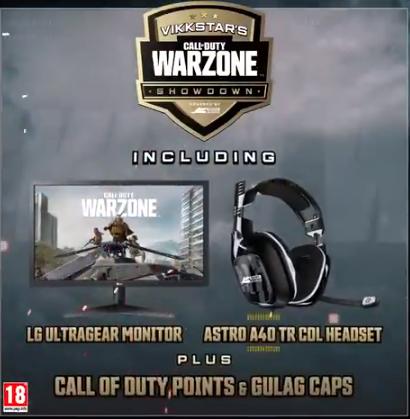 Vikkstar Call of Duty Warzone Date de début de la confrontation