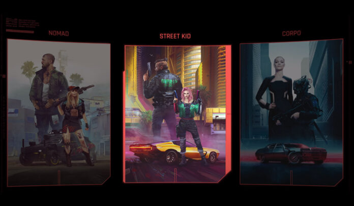 Cyberpunk 2077 Lifepaths: Nomad, Street Kid, Corpo