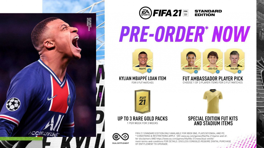 FIFA 21 prix pré-commande Standard Champions Ultimate Edition