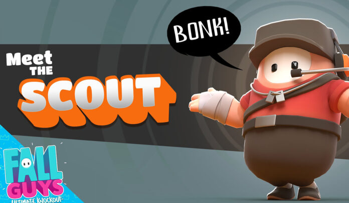 Fall Guys ajoute un skin Team Fortress 2 Scout