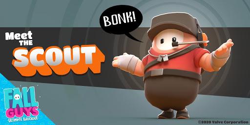 Fall Guys révèle le costume de scout Team Fortress 2, disponible aujourd'hui