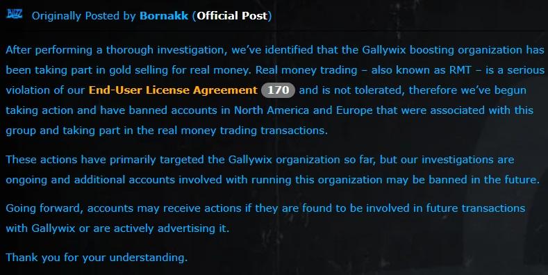 World of Warcraft stimule Gallywix Blizzard Entertainment