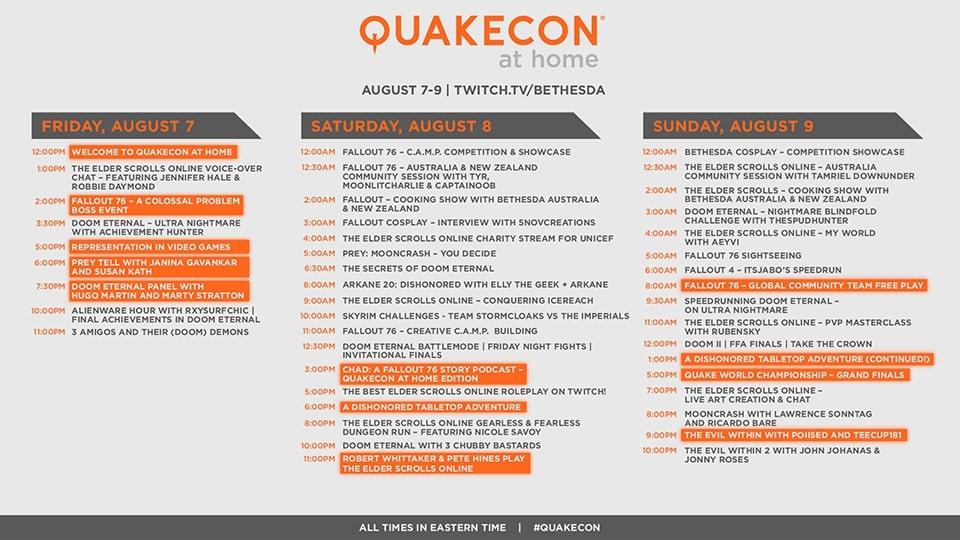 Horaire de Quakecon