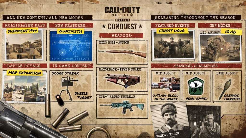 COD Mobile Season 9 roadmap nouvel événement grenade d'avantage
