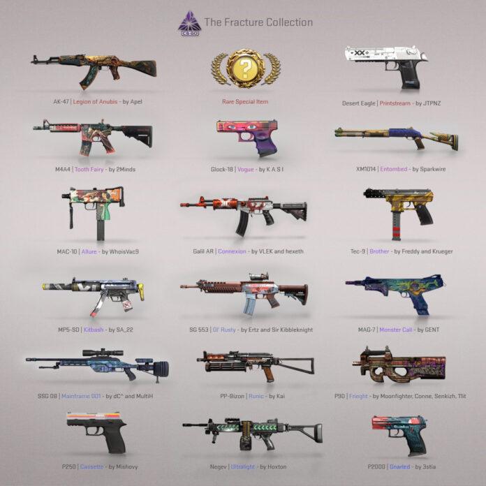 Le nouveau boîtier Fracture ajoute 17 skins d'armes dans la dernière mise à jour CS: GO