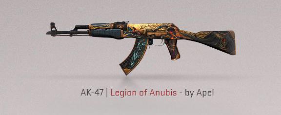 CS: GO Fracture Case skins d'armes AK-47 Legion of Anubis