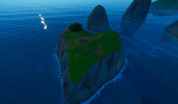 Plant a Seed on a Heart-Shaped Island as Groot in Fortnite