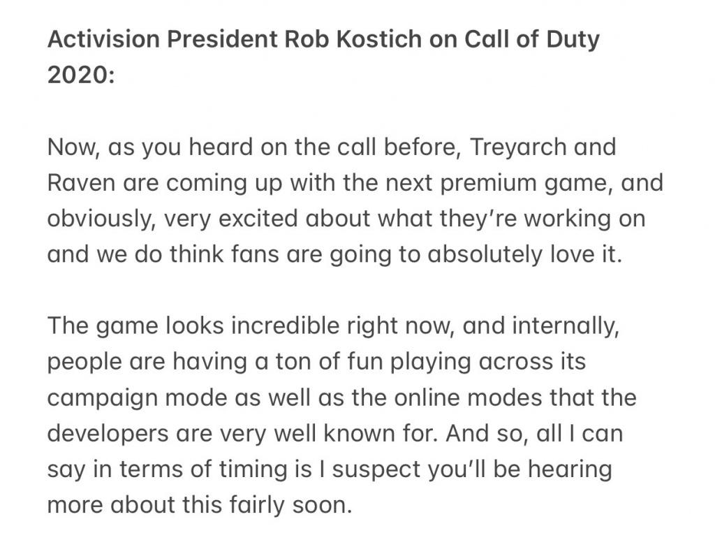 La date de sortie de Call of Duty 2020 est révélée par Warzone