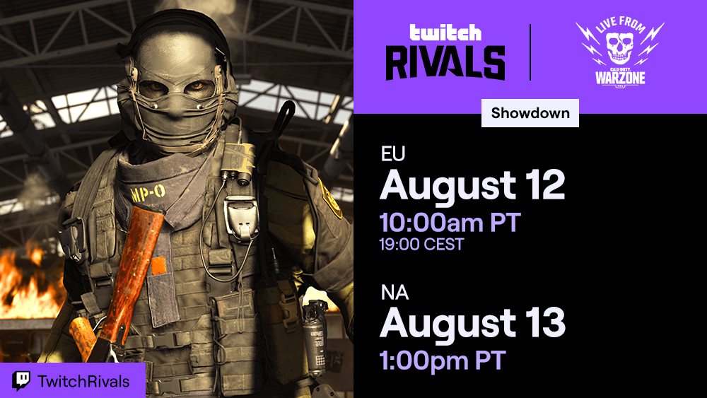 Twitch Rivals Warzone Showdown 3 Calendrier Comment regarder