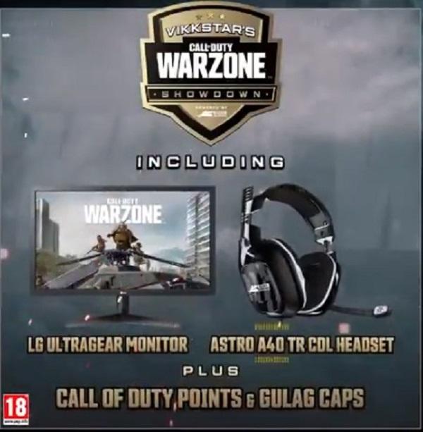 Vikkstar Warzone Showdown prize pool Comment regarder le format du programme