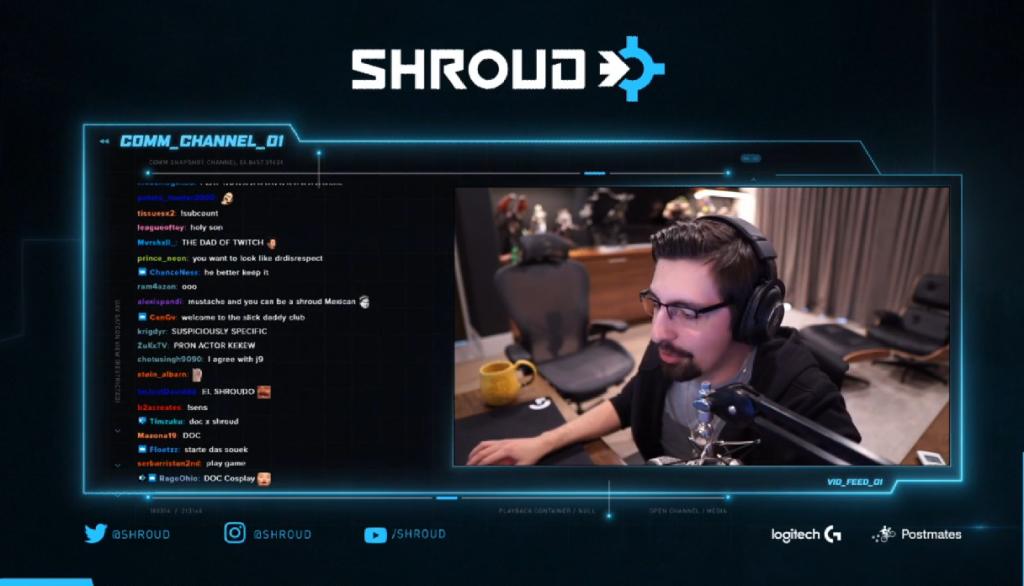 Shroud revient à Twitch, Shroud barbiche, Shroud Valorant Pro