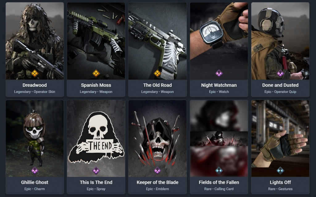 Lots de la saison 5 de Warzone Modern Warfare