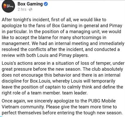 Box Gaming Louis Pimay PUBG Mobile Pro frappe son coéquipier, PUBG Box Louis Pimay