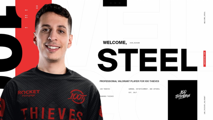 100 Thieves Sign Steel 100T Valorant