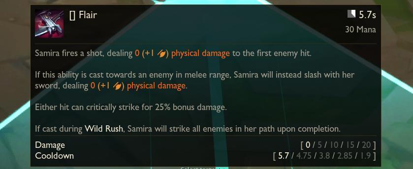Samira flair ability guide