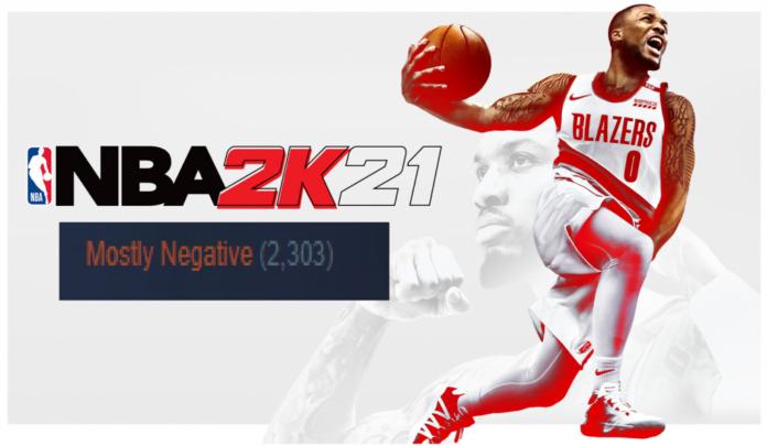 NBA 2k211 negative reviews NBA 2k20 DLC