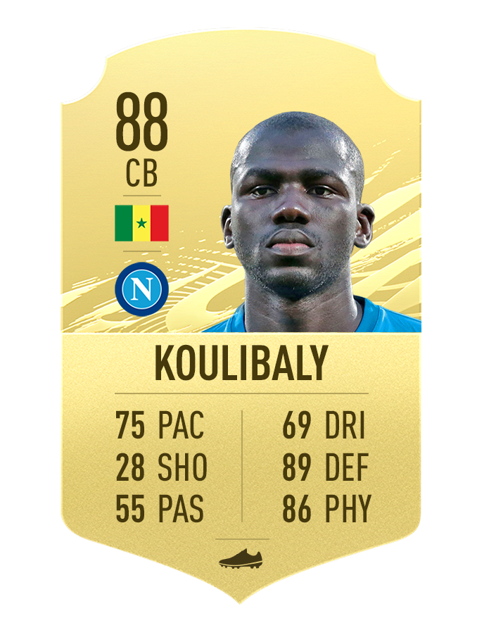 Classement Koulibaly Napoli FIFA 21