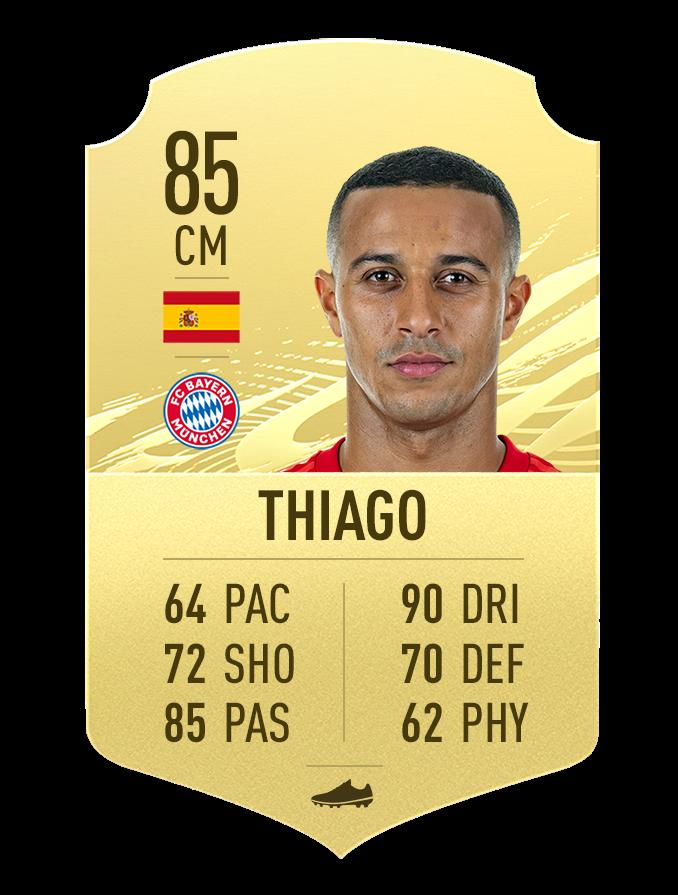 Thiago Meilleure note FIFA 21 Bundesliga