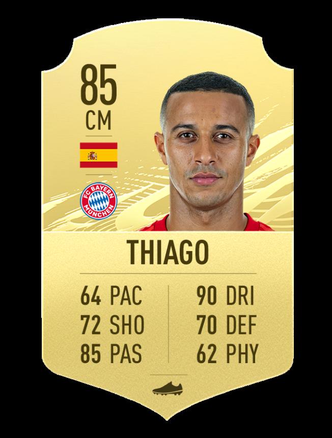 Thiago meilleurs joueurs de skil FIFA 21