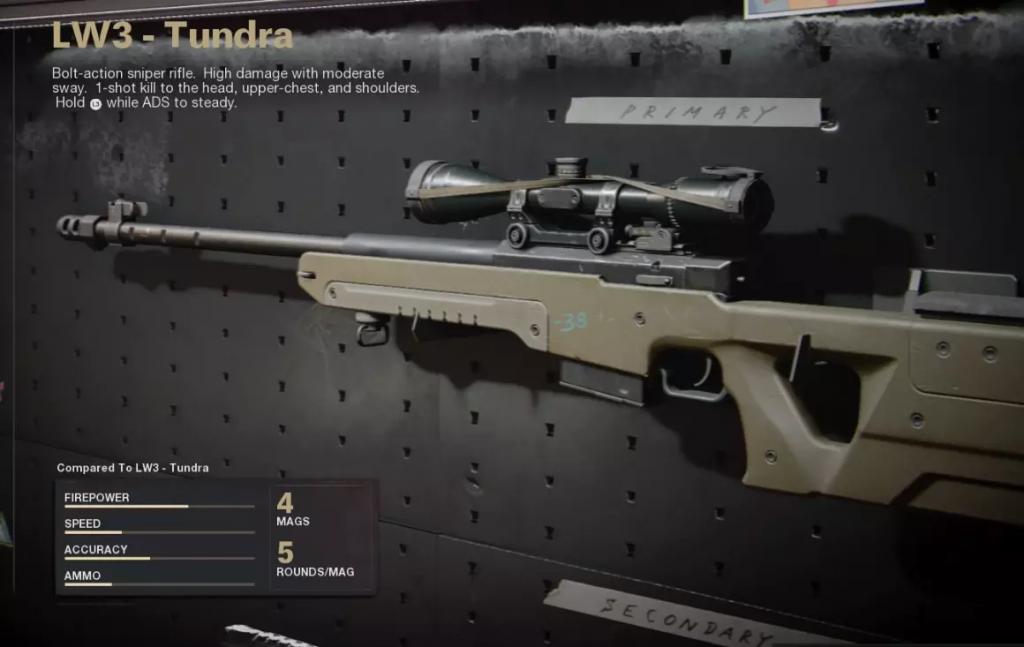 Cod Black Ops Cold War LW3 Tundra loadout meilleur