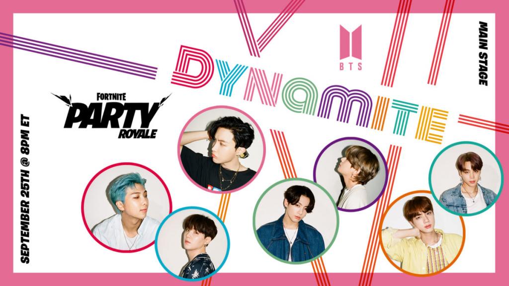 Vidéo de danse Fortnite BTS Dynamite Party Royale