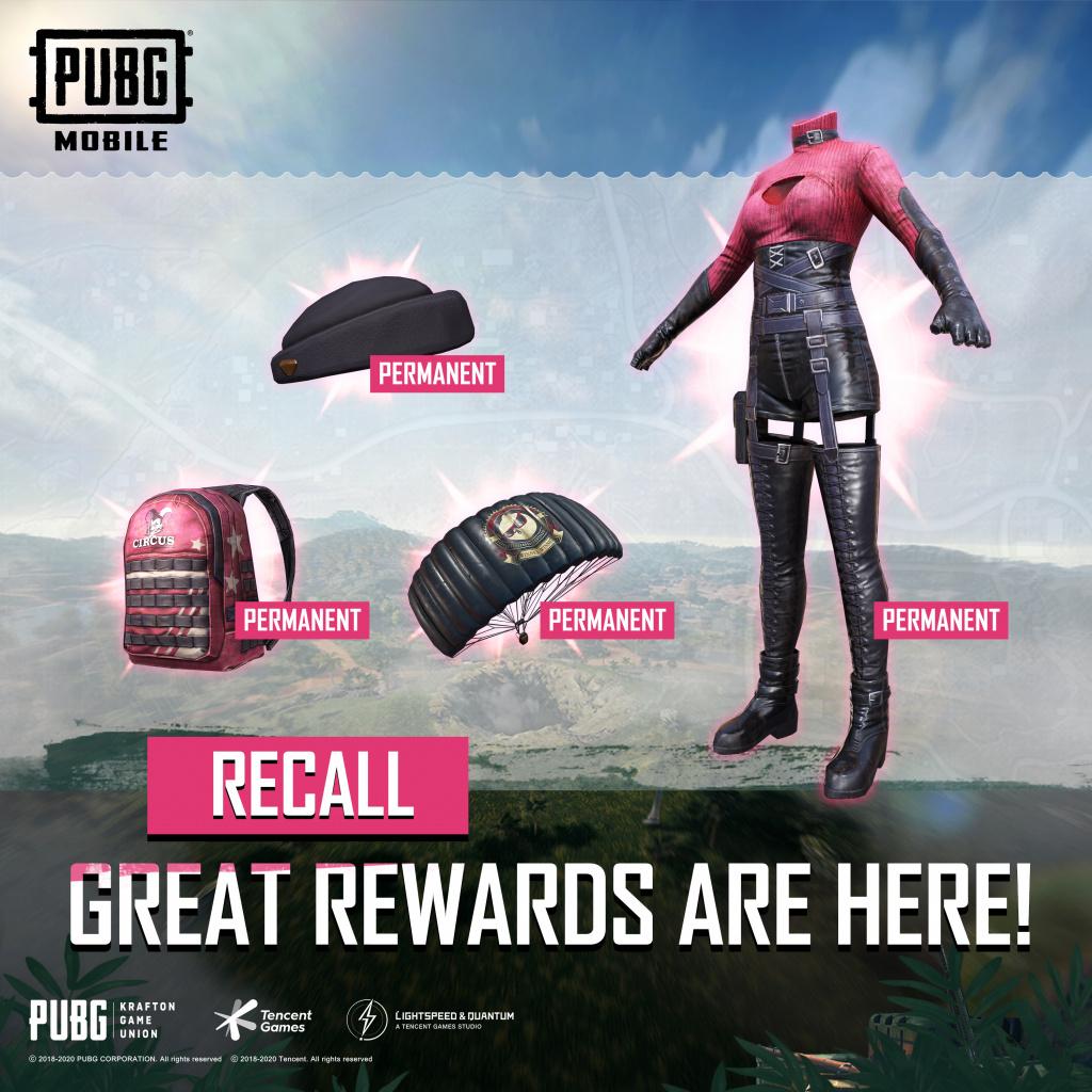 Événement de rappel de PUBG Mobile x Blackpink